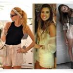 Hit do verão Shorts de RENDA
