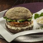 Sanduíche de Hambúrguer de Salmão