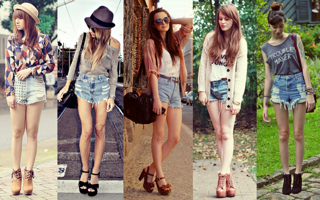 hot pants cintura alta _ shorts_looks